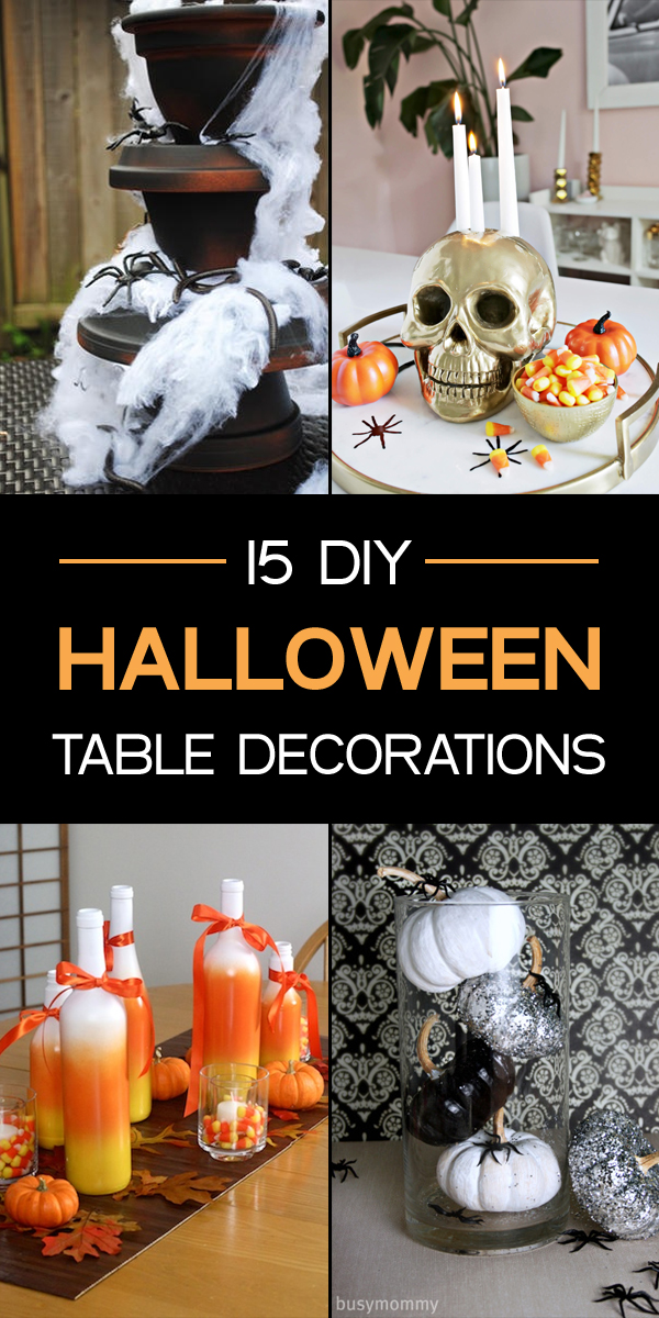 15 Fun and Spooky DIY Halloween Table Decorations