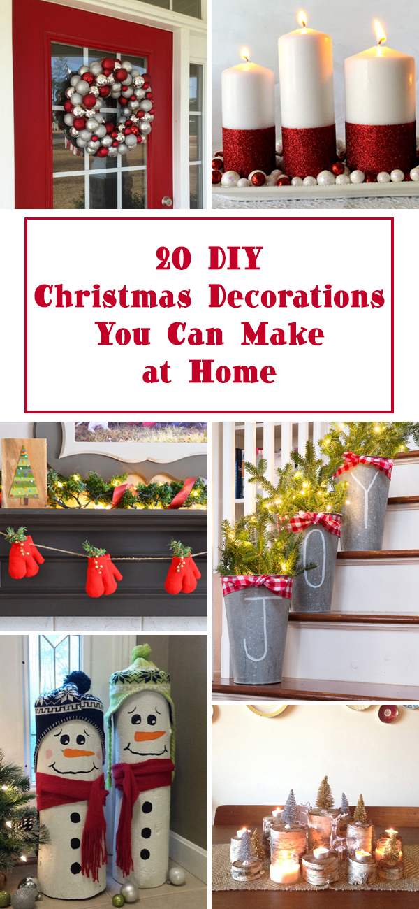20 DIY Christmas Decorations You Can Make at Home