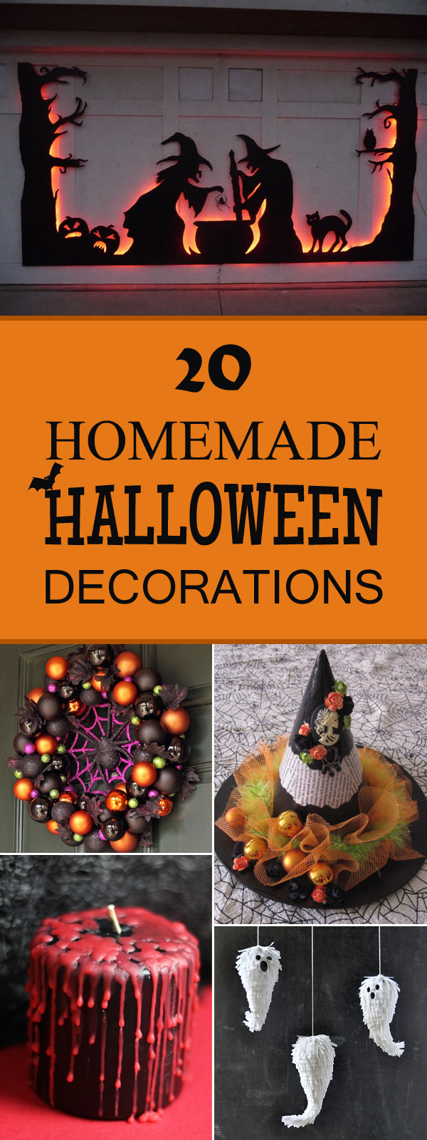 20 super cool homemade halloween decorations