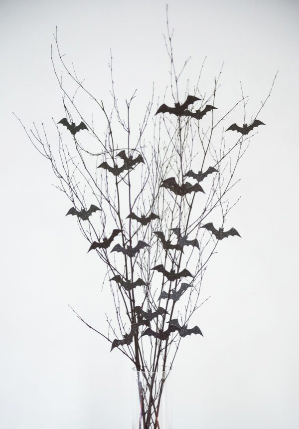 Bat Branch Halloween Centerpiece