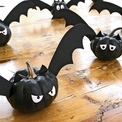 Halloween Pumpkin Bats