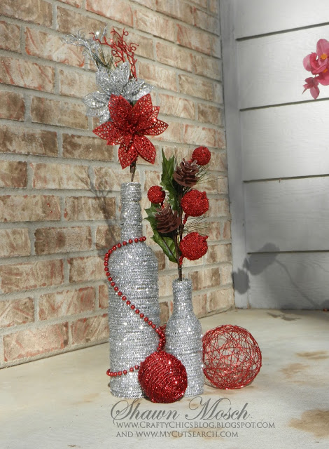 Sparkling Wine Bottle Holiday Vases
