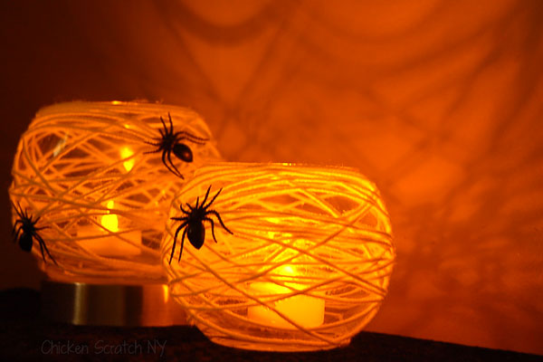 Spiderweb Halloween Candle Holders