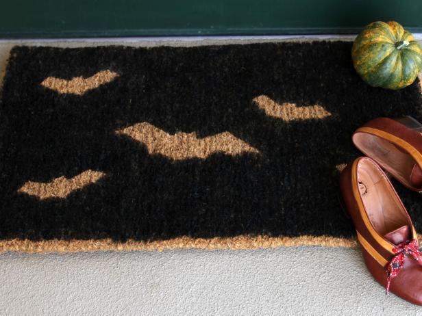 Stenciled Halloween Doormat