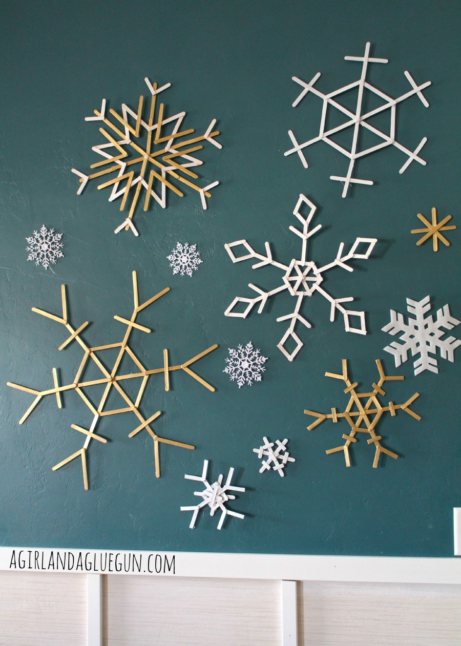popsicle sticks snowflakes