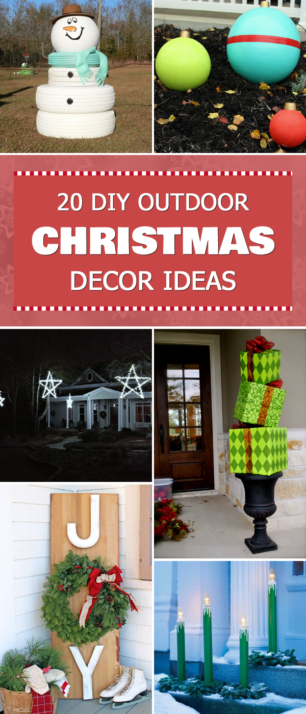 20 Best DIY Outdoor Christmas Decor Ideas