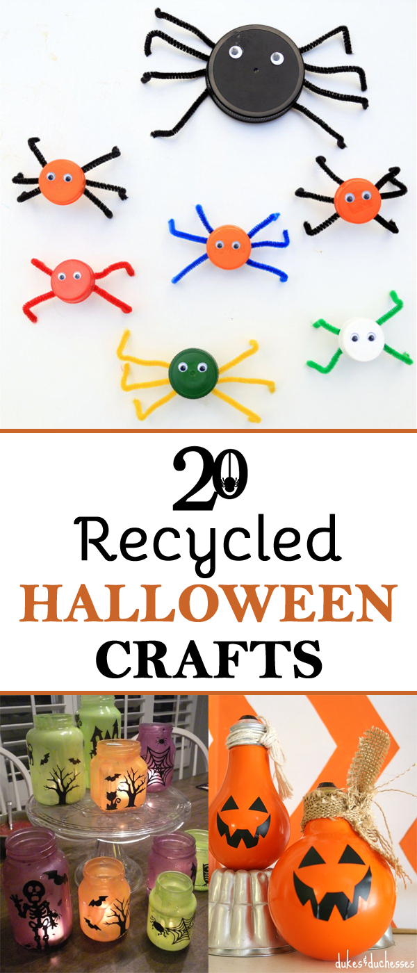 20 Halloween Crafts Made From Recycled Materials