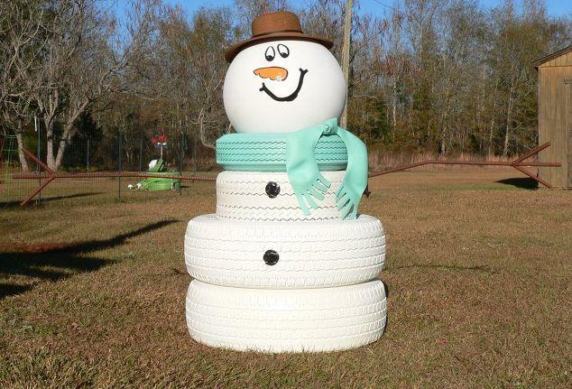 Cute Tire Snowman