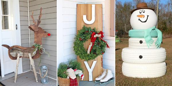 20 DIY Outdoor Christmas Decor Ideas