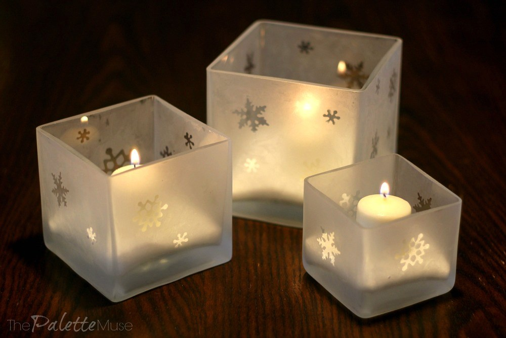Etched Glass Luminarias