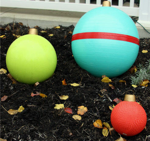 Exercise Ball Christmas Ornaments