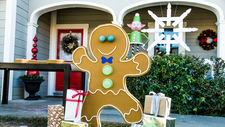 Front Yard Gingerbread Man