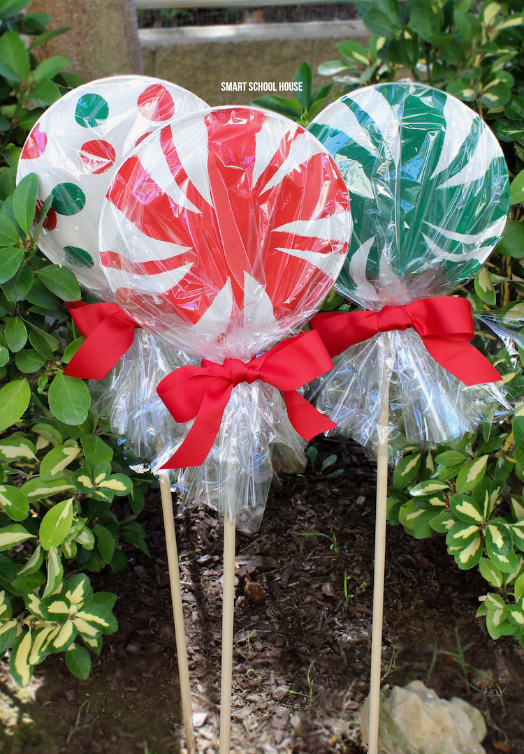 Giant Paper Plate Lollipops