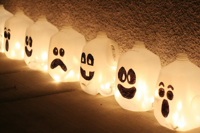 Glowing Ghosts from Plastic Milk Jugs