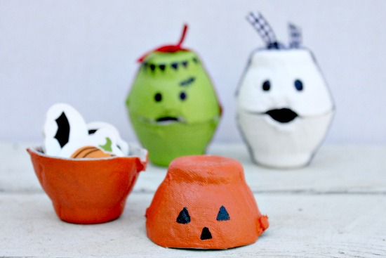 Halloween Egg Carton Treat Boxes