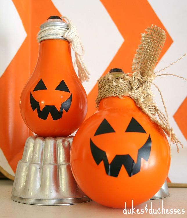 Light Bulb Pumpkins