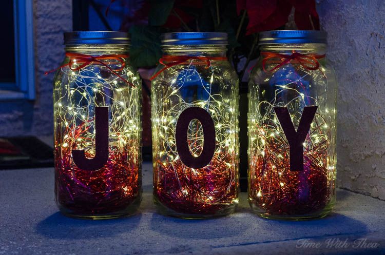 Mason Jar Twinkle Light Luminaries