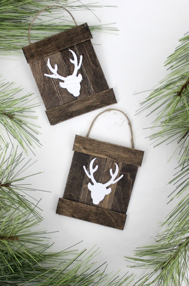 Mini Deer Pallet Ornaments