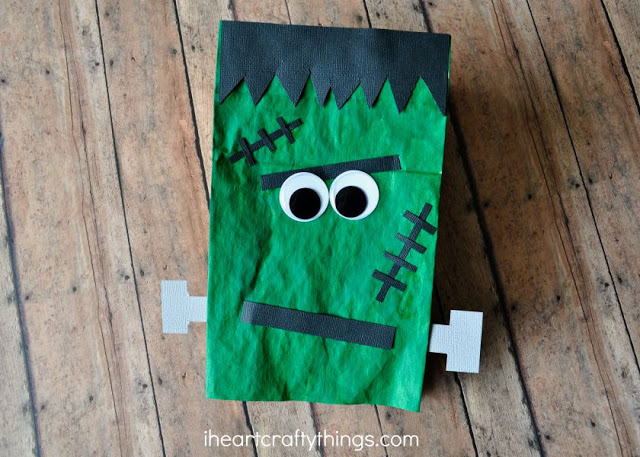 20 great halloween crafts made from recycled materials for Brown paper bag crafts for preschoolers