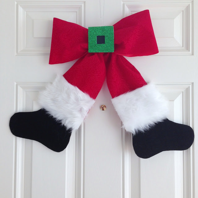 Santa Bow Wreath