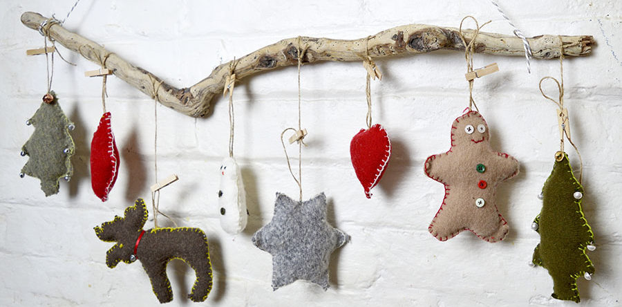 Sweater Upcycled Christmas Ornaments