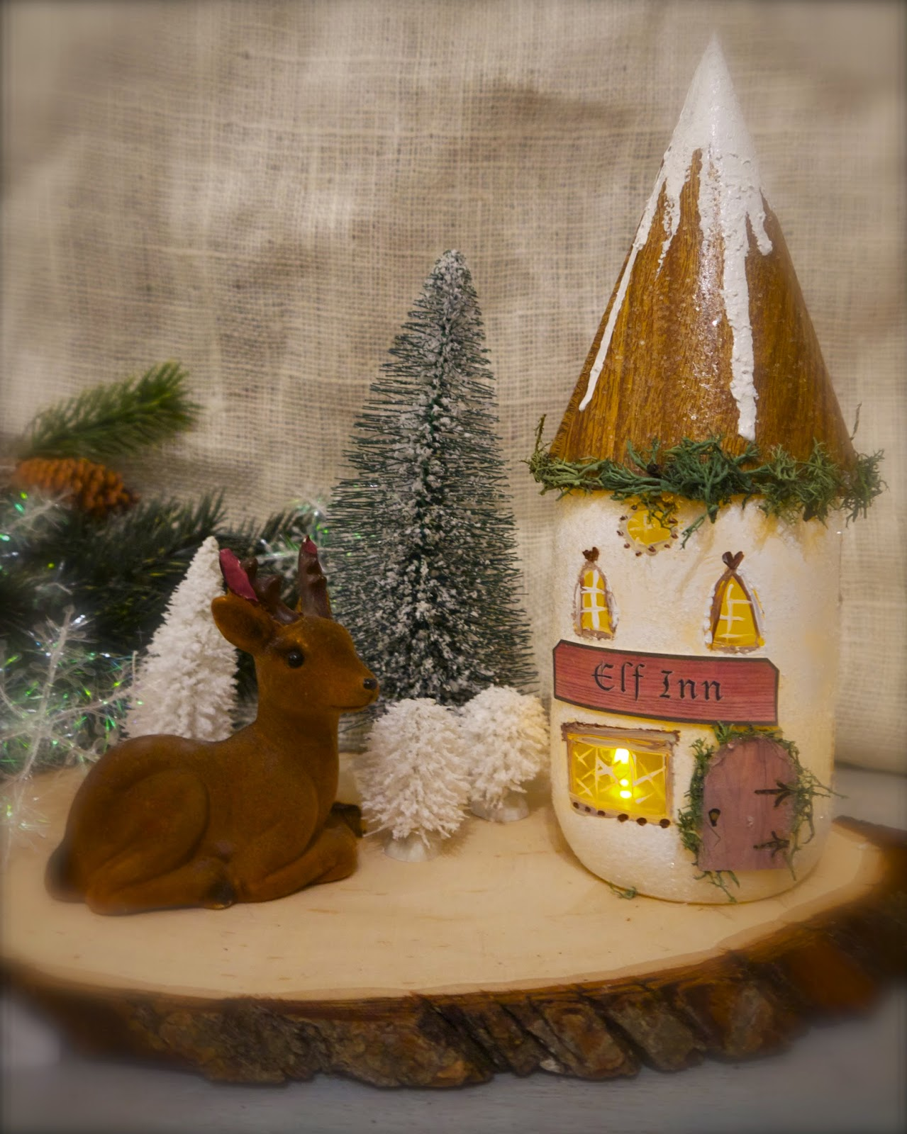 mason jar elf cottage