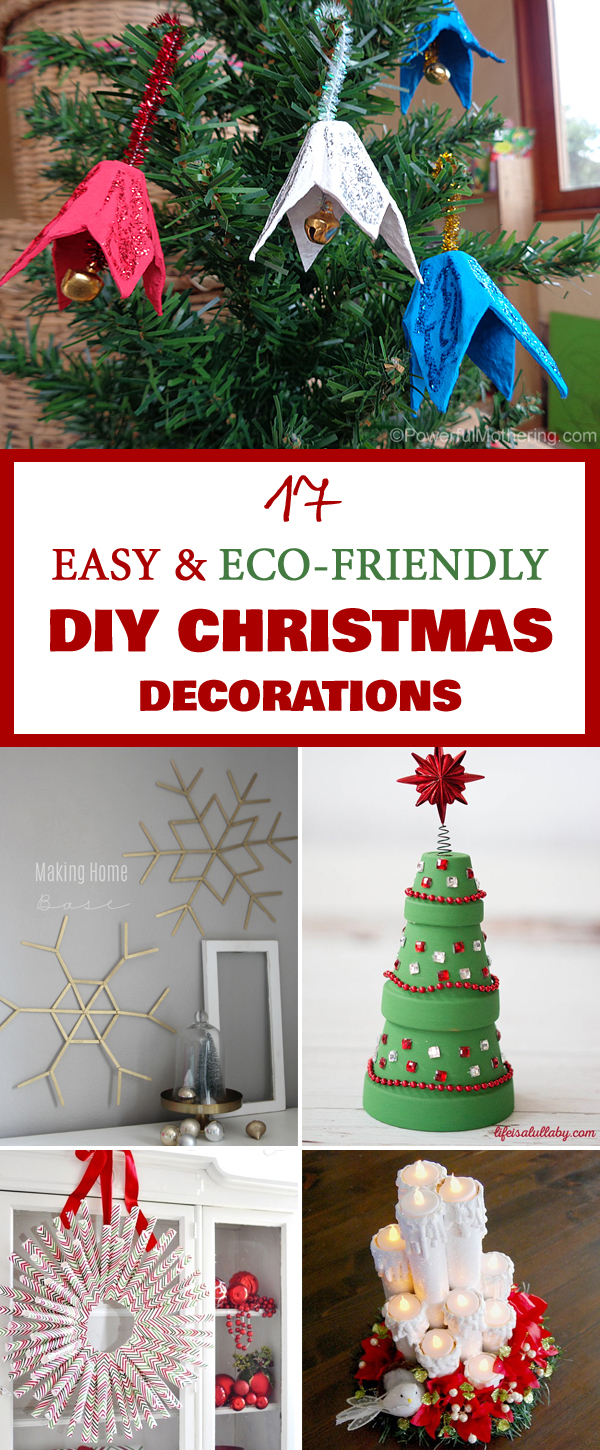 17 easy eco friendly diy christmas decorations Environmentally friendly decorations
