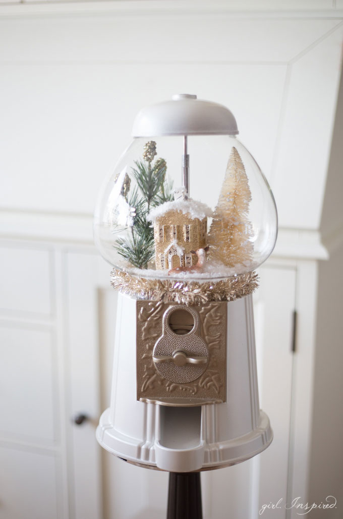 gumball machine snow globe