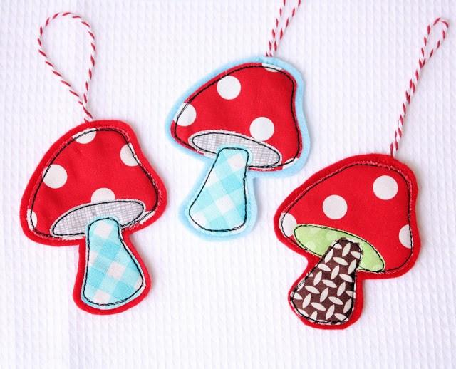 Felt Christmas Mushroom Ornament