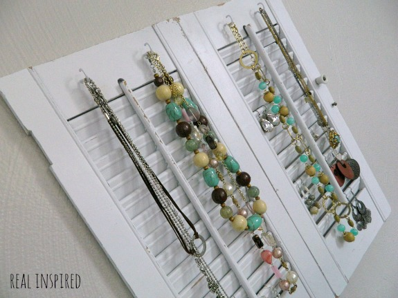 Jewelry Organizer From Shutters