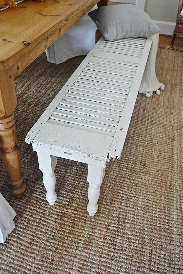 Rustic Shutter Bench