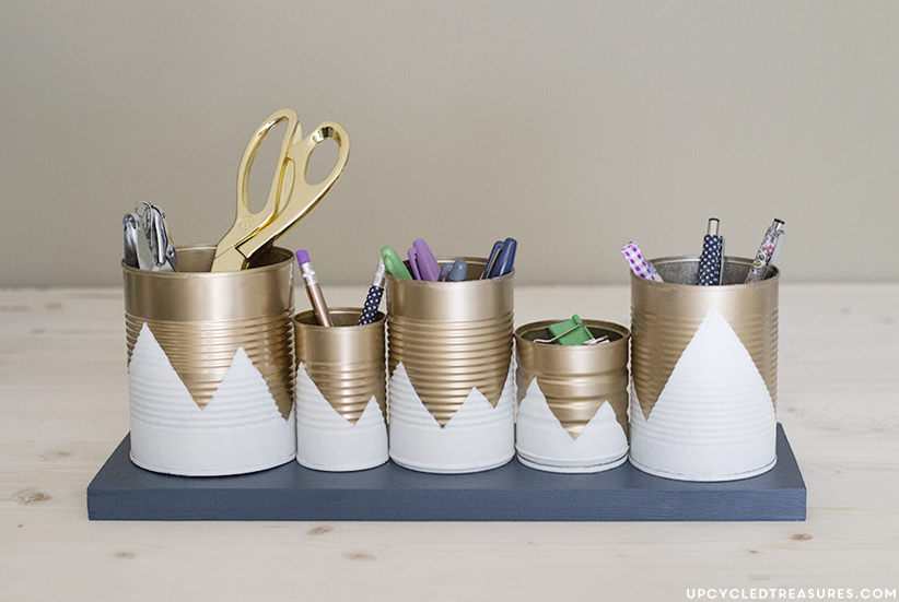 Tin Can Desk Organizer