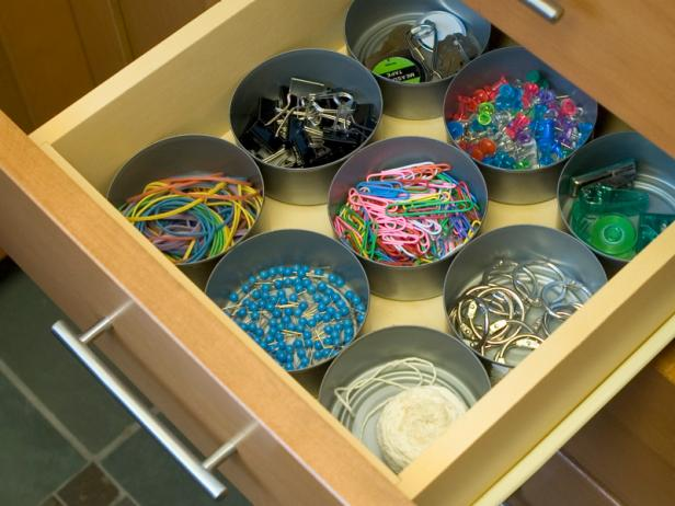 Tuna Can Drawer Organizer