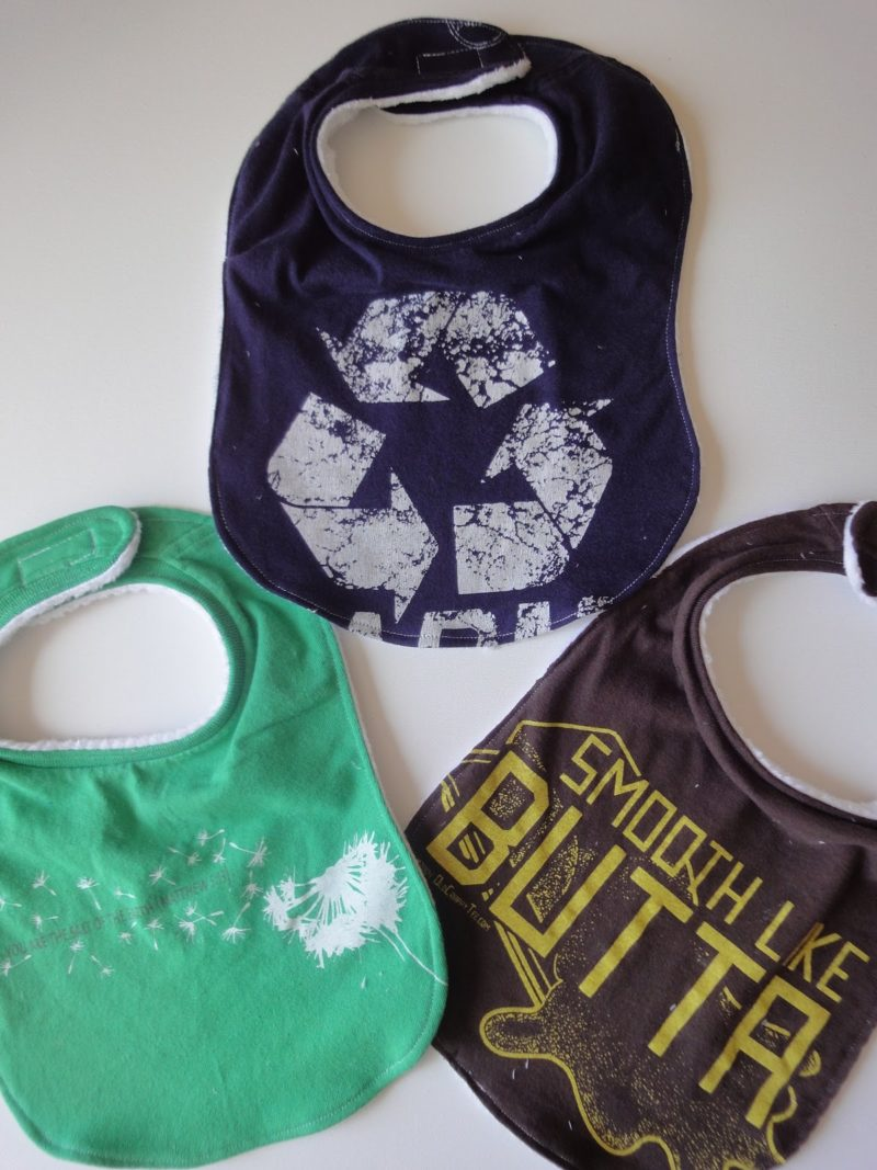 Upcycled Shirts to Baby Bibs