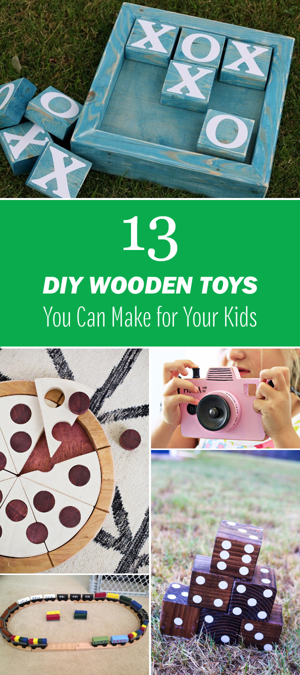 13 DIY Wooden Toys You Can Make for Your Kids