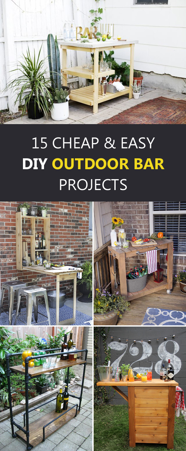 15 Cheap and Easy DIY Outdoor Bar Projects