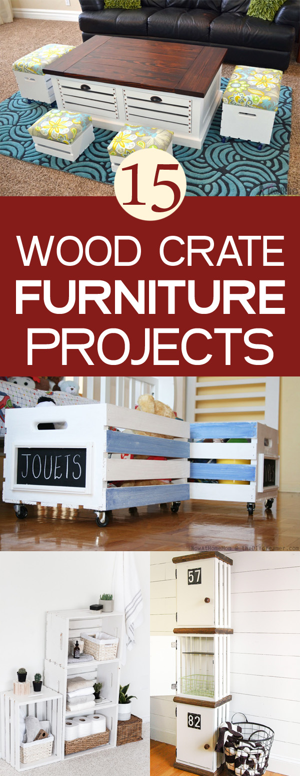 wood crate furniture diy. 15 DIY Wood Crate Furniture Projects Diy S