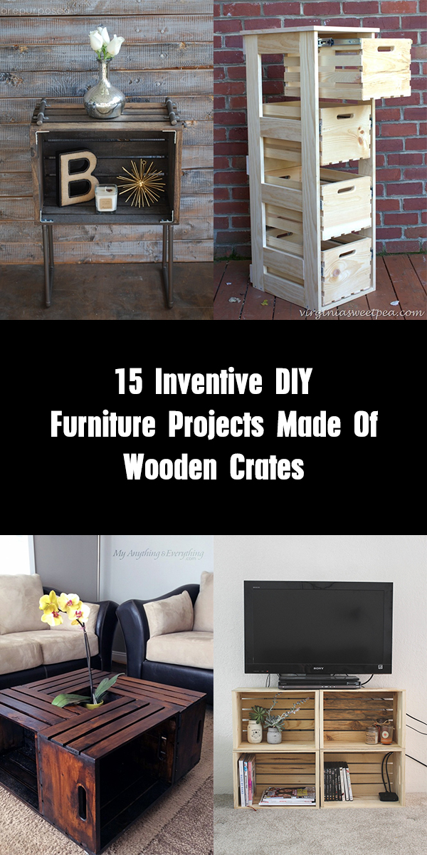 15 Inventive DIY Furniture Projects Made Of Wooden Crates