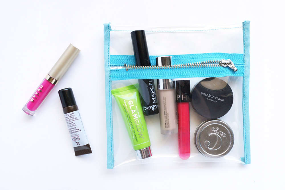 Clear Vinyl Zippered Pouch