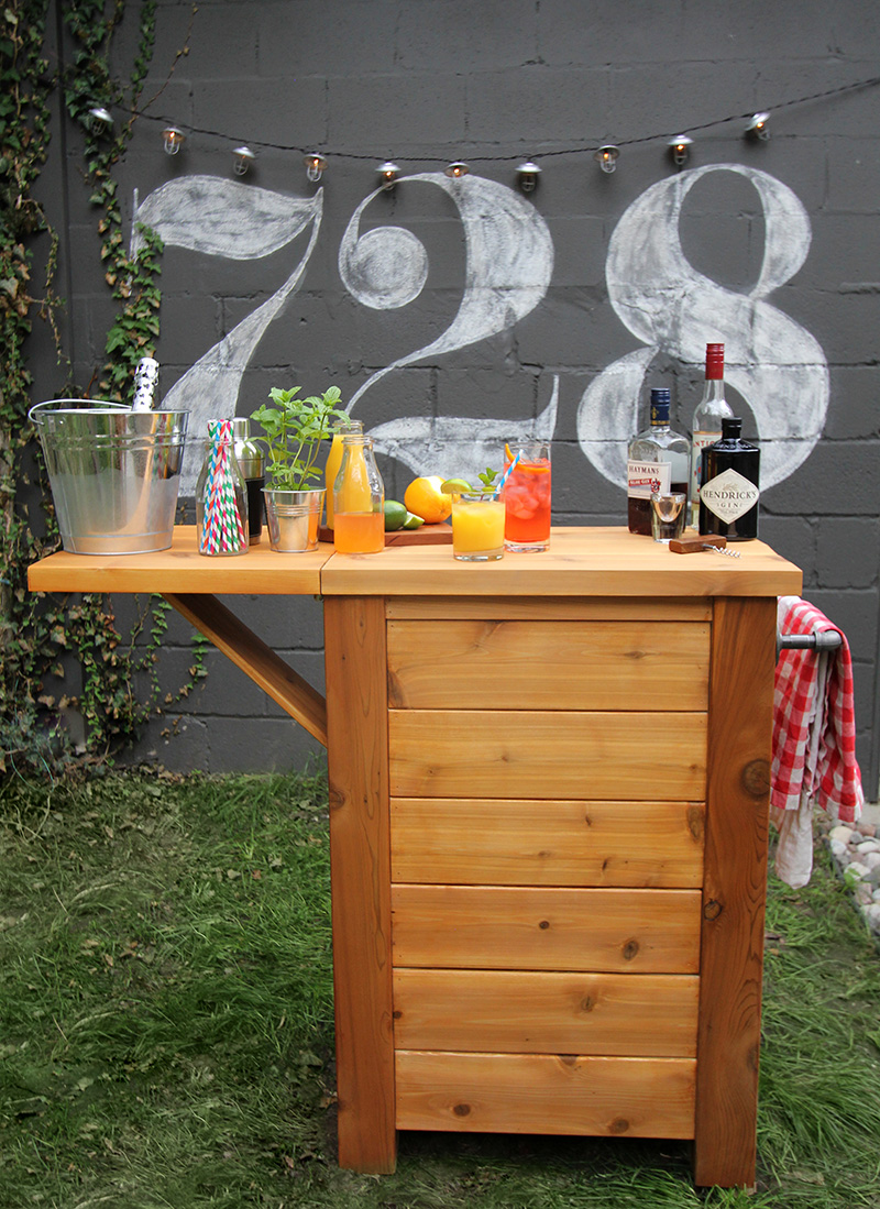 Drop Leaf Outdoor Bar