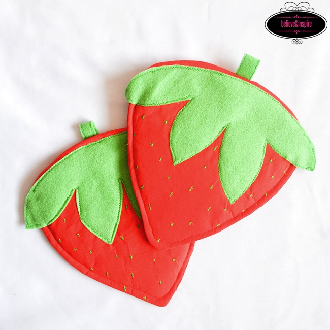 Strawberry Pot Holders