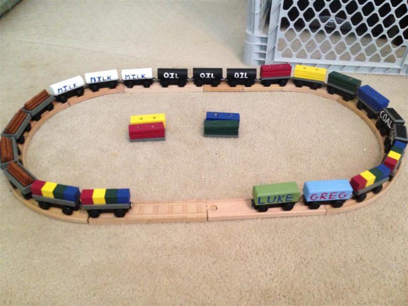 Wooden Train Tracks