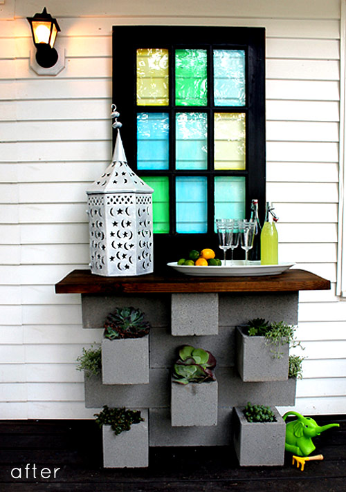 Cinder Block Planter Bar