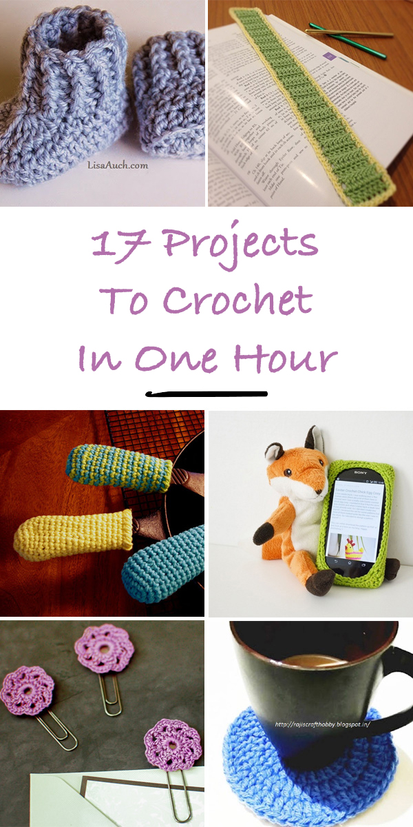 17 Projects To Crochet In One Hour
