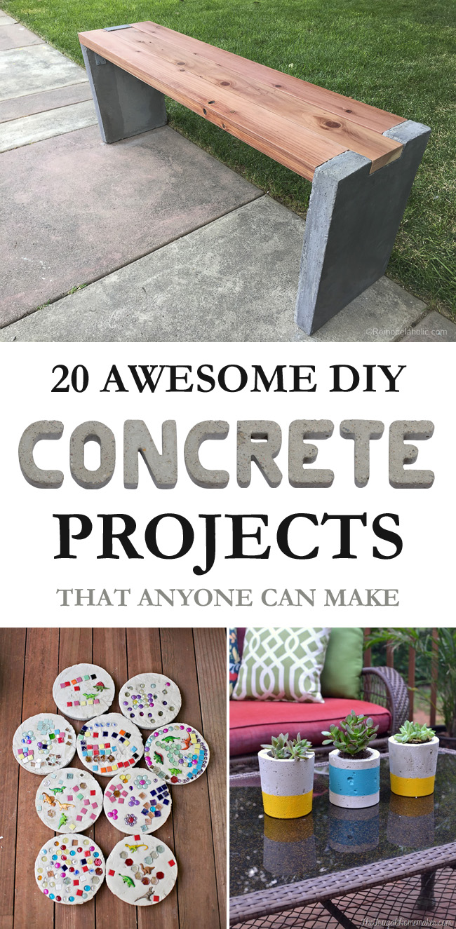 20 Awesome DIY Concrete Projects That Anyone Can Make