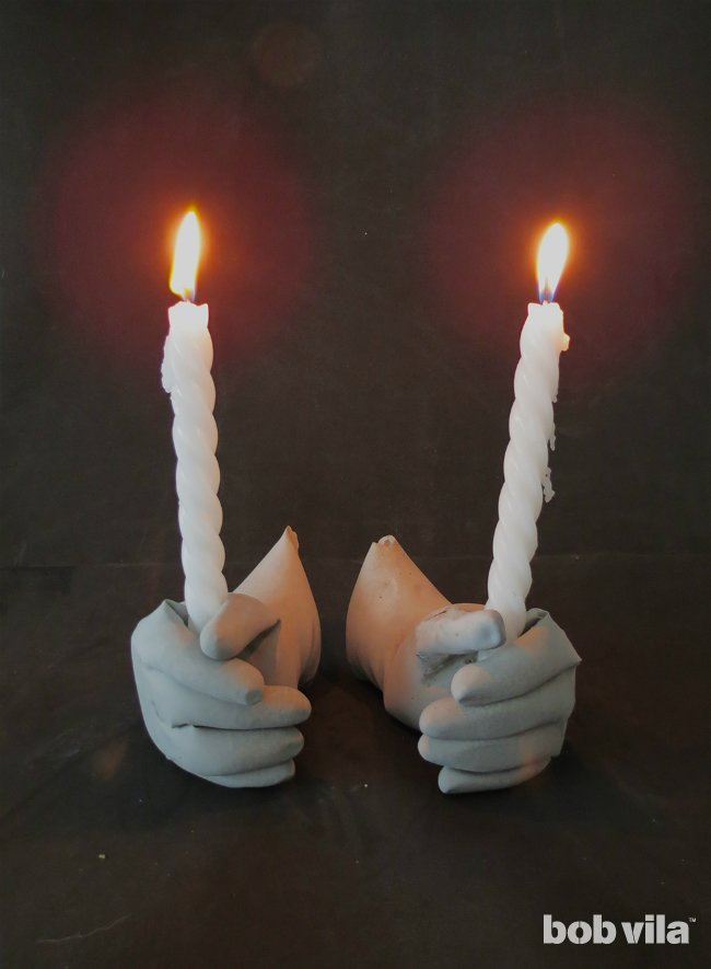 Graveyard-Inspired Candle Holders