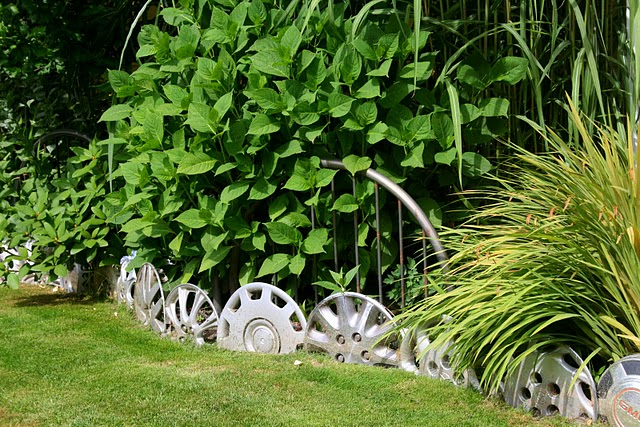 Hubcap Garden Edging