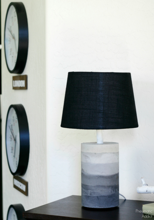 Ombre Concrete Lamp