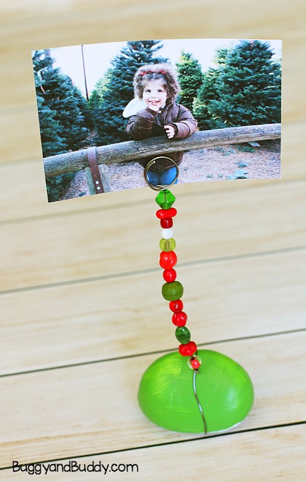 Painted Rock Photo Holder