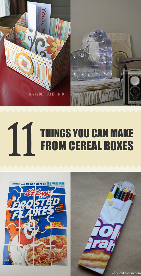 11 Cool Things You Can Make From Cereal Boxes